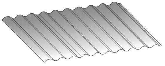 Wavy Corrugated Metal Panel