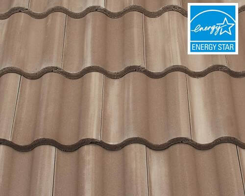 entegra estate curved tile light brown with white antique - Entegra Roof Tile