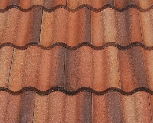 Entegra Estate Curved Tile Tequila Sunset With Golden Haze And Desert Brown