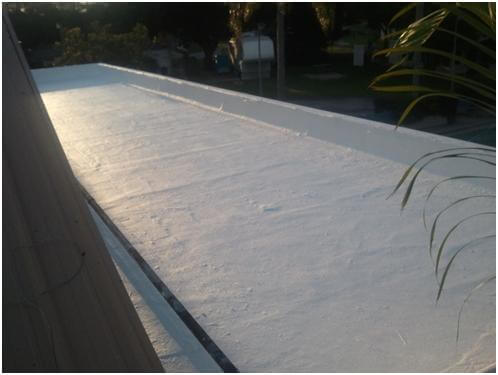 Roofing System Coating On Modified Bitumen Roof
