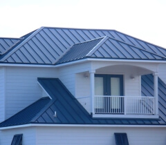 ... Florida Home With Blue Standing Seam Roof