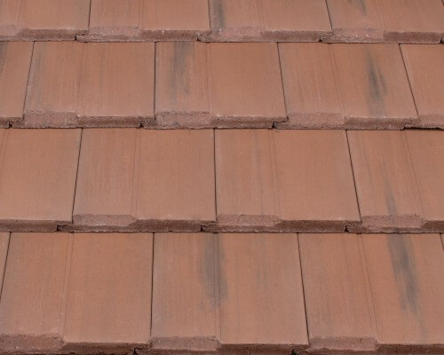 Flat roof tile options and colors affordable roofing by for Flat clay tile roof