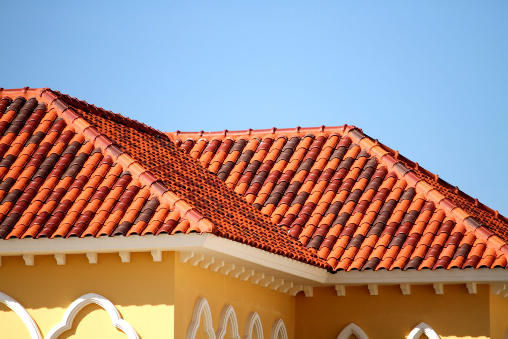 Building with red roofing tile