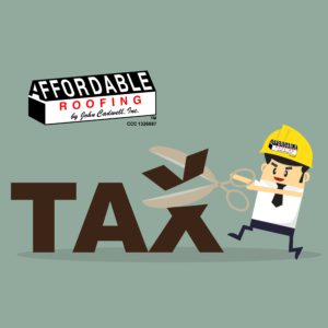 Affordable Roofing cutting taxes