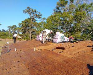Wood roof deck